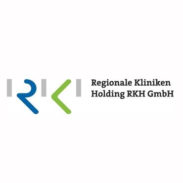 Icon mit Unternehmenslogo und Link: Regionale Kliniken Holding