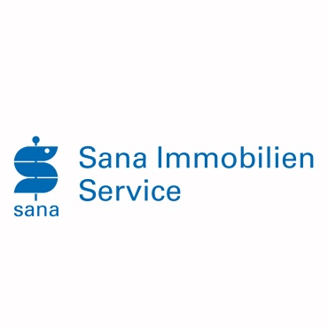 Icon mit Unternehmenslogo und Link: Sana