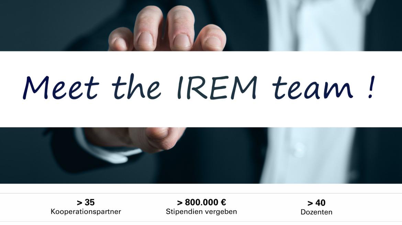 Symbolfoto IREM About mit den wichtigsten facts: über 35 Kooperationspartner, über 40 Dozenten und über 800.000 Euro Stipendien vergeben. (c)
