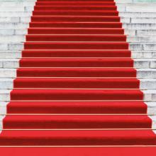 Symbolbild industriebaupreis: roter Teppich