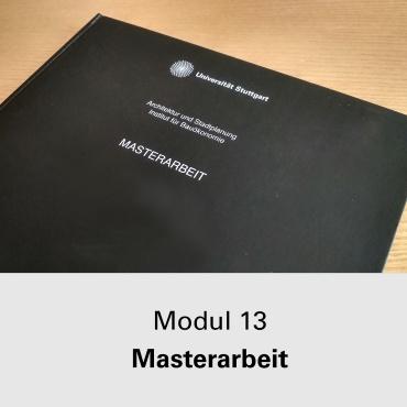 Modul 13 Masterarbeit