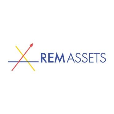 Icon mit Unternehmenslogo und Link: REM Assets