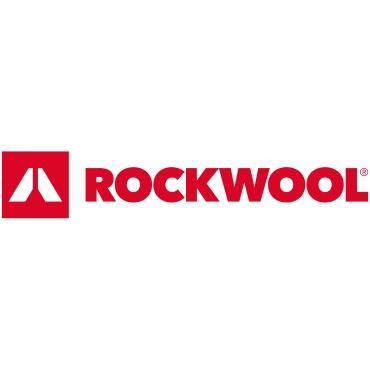 Icon mit Unternehmenslogo und Link: Rockwool
